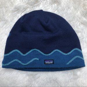 Patagonia Winter Hat Blue Toddler Size 1-2 Years